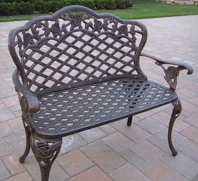 Metal garden benches black flowers Garden benches metal