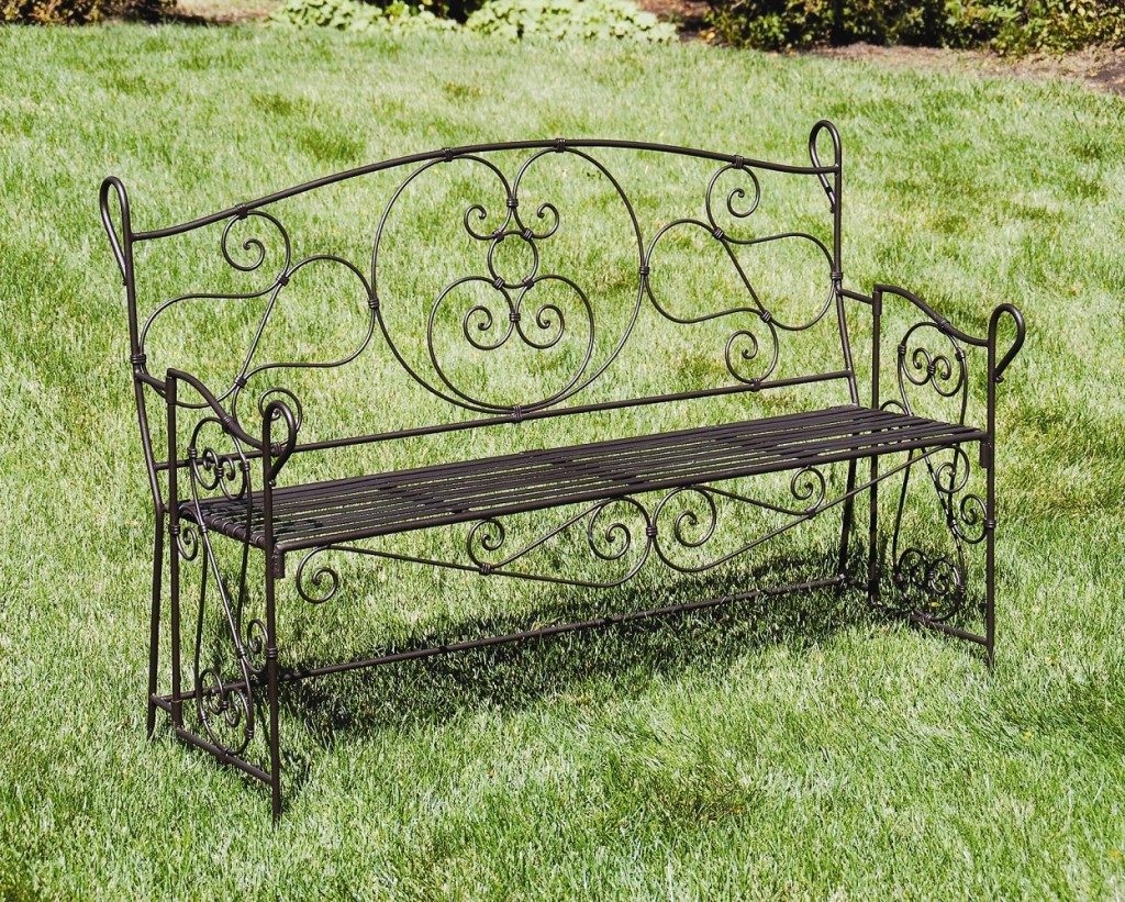 Entryway Wrought Iron Garden-Bench AR-27