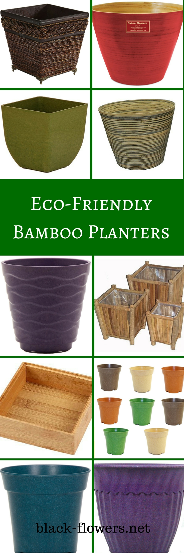 Eco-Friendly Bamboo Planters