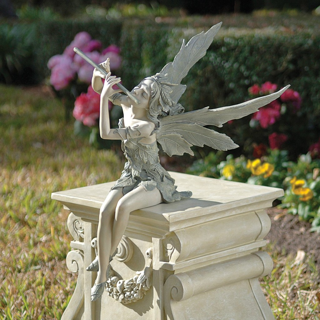 Outdoor fairy garden statues for your fairy garden for Flower garden ornaments